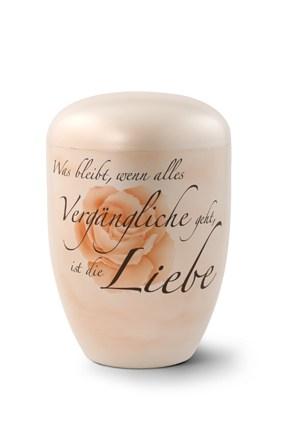 Edition Memento, perlmutt, handbemalt, Was bleibt, wenn alles Vergängliche…, biol. abbaub.