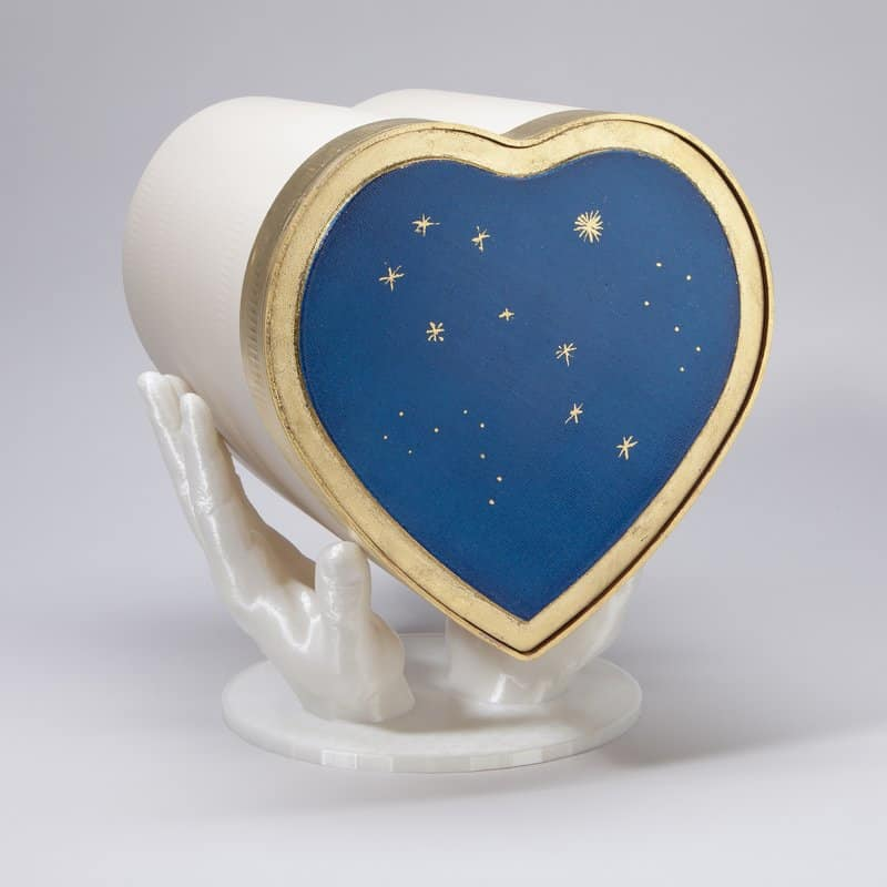 Herzurne Blattgoldbordüre, Sternenhimmel